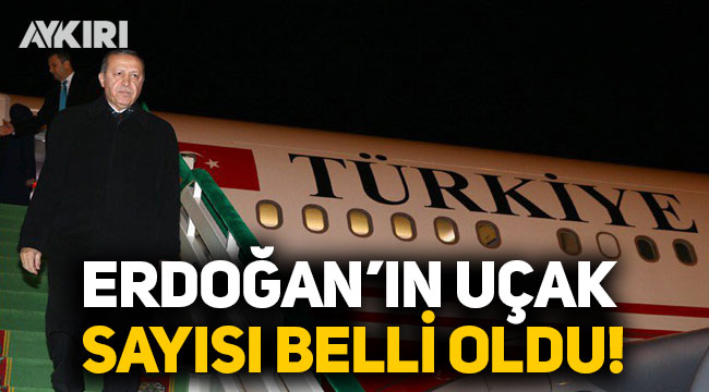 Erdoğan'ın uçak sayısı belli oldu