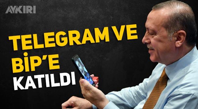 Erdoğan telegrama katıldı