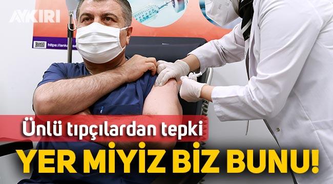 Fahrettin Koca canlı yayında ne aşısı vuruldu, sağlıkçılardan çarpıcı iddialar