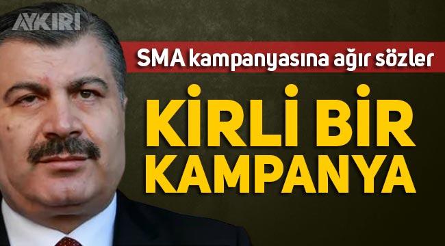 """Fahrettin Koca'dan SMA kampanyası hakkında açıklama: """"Kirli bir kampanyadır"""""""