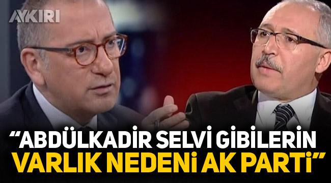 Fatih Altaylı: Abdülkadir Selvi gibilerin varlık nedeni AK Parti