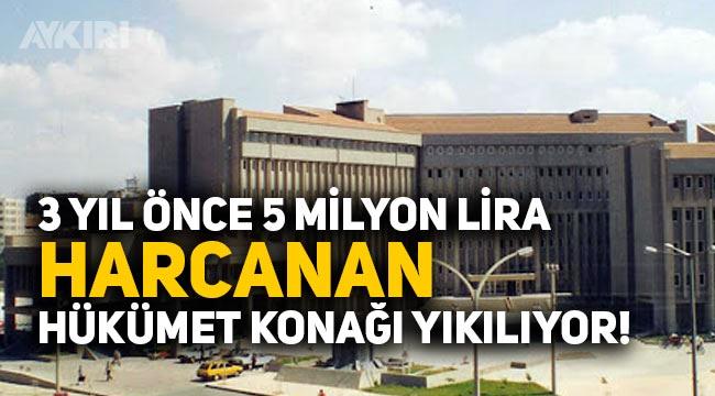 Gaziantep'te 5 milyon liraya yenilenen Hükümet konağı yıkılarak millet bahçesi yapılacak