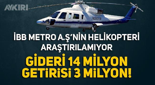 İBB geçmiş döneminde alınan ve 11 milyon lira zarar ettiren helikopter araştırılamıyor!