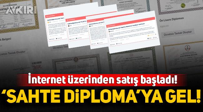 İnternet üzerinden satış başladı! 'Sahte Diploma'ya gel!