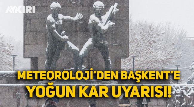 Meteoroloji'den Ankara ve Bolu için yoğun kar uyarısı