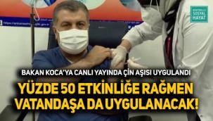 Sağlık Bakanı Fahrettin Koca'ya Çin aşısı uygulandı!