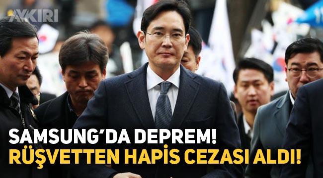 Samsung Electronics'de deprem, başkan yardımcısı rüşvetten hapis cezası aldı