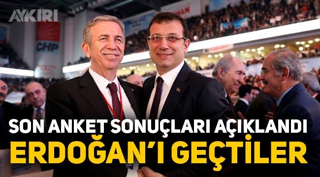 Son anket sonuçları açıklandı. Mansur Yavaş ve Ekrem İmamoğlu, Erdoğan'ın üzerinde çıkıyor