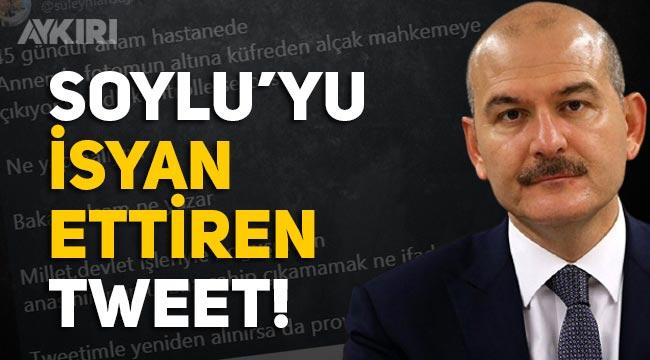 Süleyman Soylu'da annesi hakkında atılan küfürlü tweet'e tepki