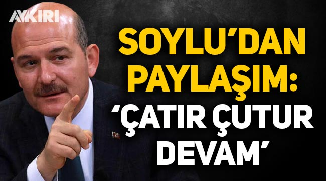Süleyman Soylu'dan 'Çatır Çuturlu' uyuşturucuyla mücadele mesajı