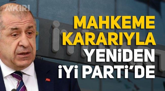 Ümit Özdağ, Mahkeme kararıyla yeniden İYİ Partili oldu