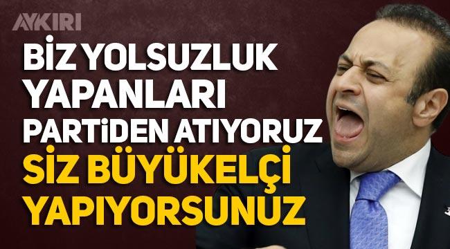 """Veli Ağbaba: """"Biz yolsuzluk yapanları partiden atıyoruz, siz büyükelçi yapıyorsunuz"""""""
