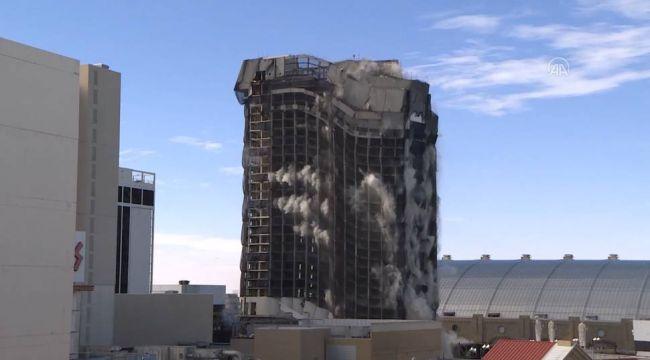 ABD'de Trump'ın oteli saniyeler içinde yıkıldı!