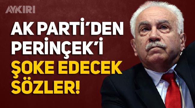 """AK Parti'den Doğu Perinçek'e: """"Fasa-fiso konuşuyor"""""""