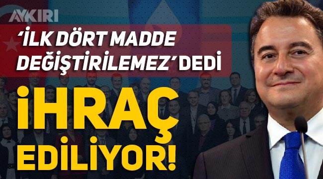"""Ali Babacan'a """"Anayasanın ilk dört maddesi değiştirilemez"""" yanıtı veren Musa Malik Yıldırım ihraç ediliyor"""