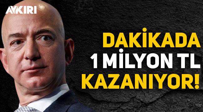Amazon'un kurucusu Jeff Bezos, dakikada 1 milyon TL kazanıyor!