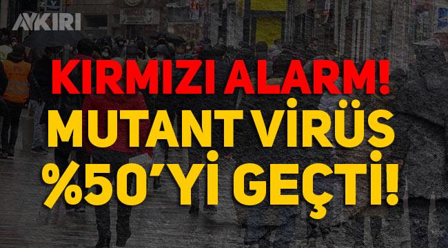 Bir kentte mutant virüs yüzde 50'yi geçti