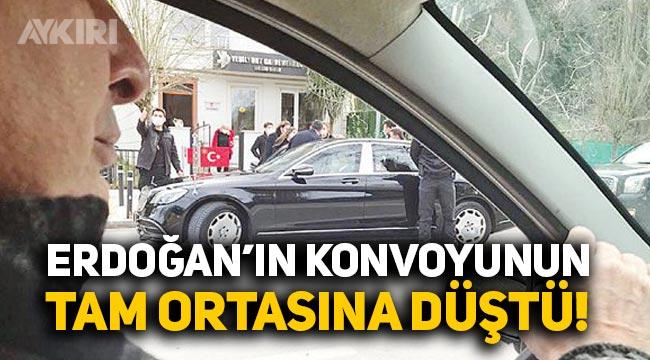 Can Ataklı, Erdoğan'ın konvoyunun tam ortasına düştü