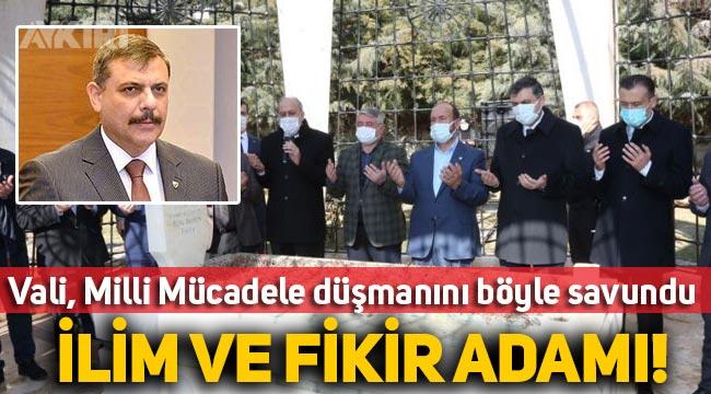 """Çorum Valisi, İskilipli Atıf'ın mezarını ziyaret etmesini böyle savundu: """"İlim ve fikir adamı"""""""