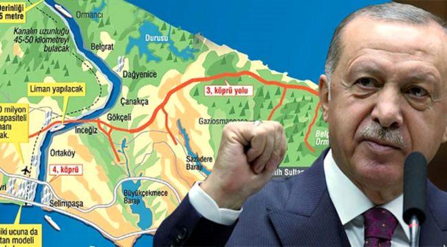 """Cumhurbaşkanı Erdoğan: """"Kanal İstanbul'u da yapacağız, inadına yapacağız"""""""