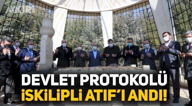 Devlet Protokolü Milli Mücadele karşıtı İskilipli Atıf'ı mezarı başında andı!