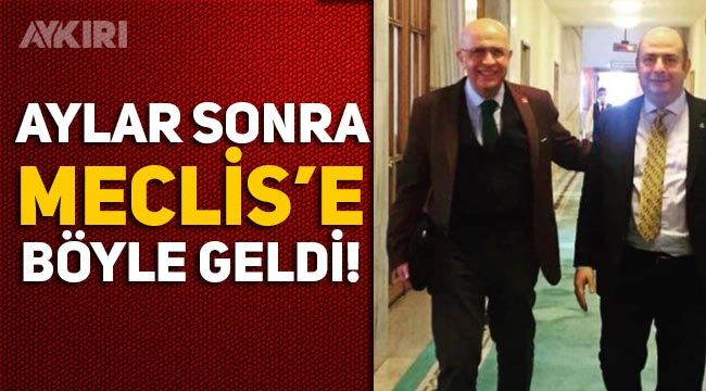 Enis Berberoğlu, aylar sonra Meclis'te