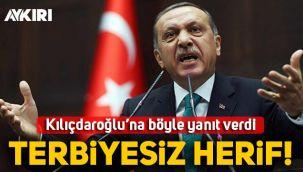 Erdoğan'dan Kılıçdaroğlu'na Gara cevabı: Terbiyesiz herif!
