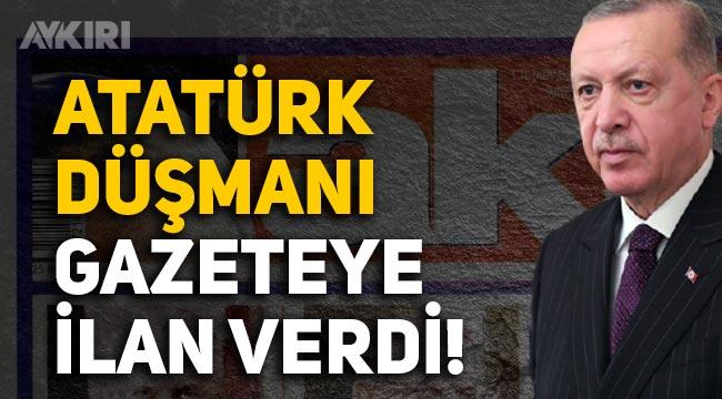 Erdoğan hangi gazetelere ilan verdi