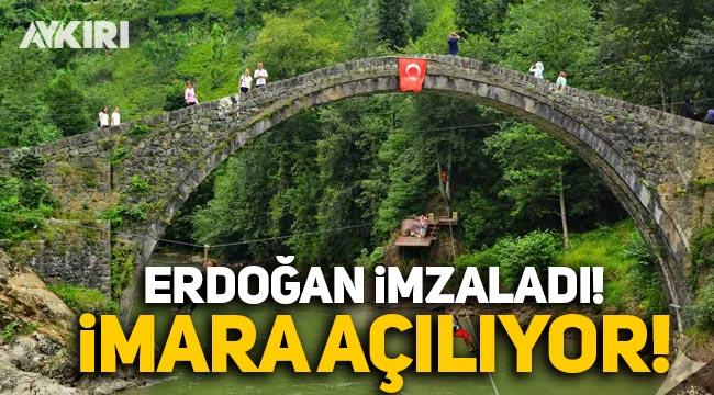 Erdoğan imzaladı: Fırtına Deresi imara açıldı
