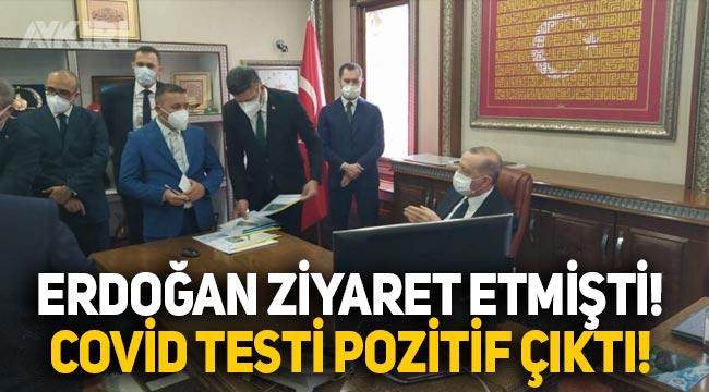 Erdoğan'ın Rize'de ziyaret ettiği ilçe başkanının korona testi pozitif çıktı
