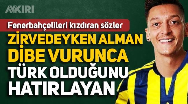 """Fatih Altaylı, Mesut Özil'i hedef almaya devam ediyor: """"Zirvedeyken Alman, dibe vurunca Türk"""""""