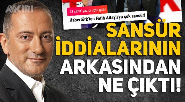 Fatih Altaylı sansüre mi uğradı? Açıklama geldi