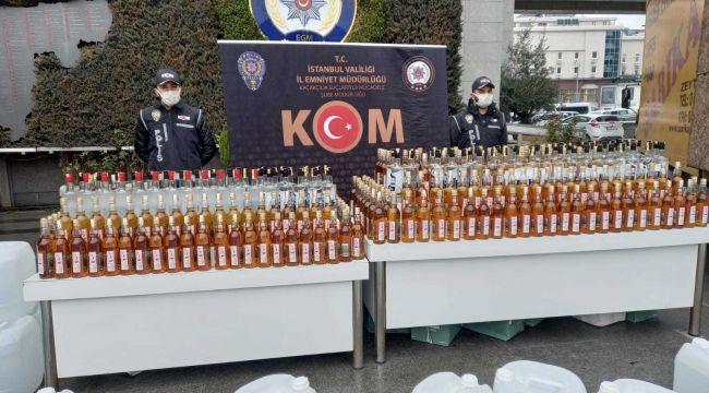 İstanbul'da sahte içki operasyonu: Gözaltılar var