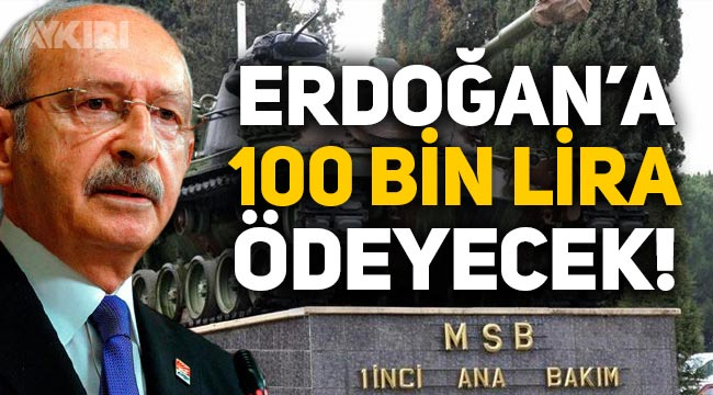 Kemal Kılıçdaroğlu, Tayyip Erdoğan'a 100 bin lira tazminat ödeyecek!