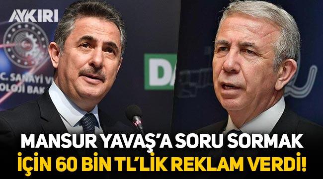 Mamak Belediye başkanı, Mansur Yavaş'a soru sormak için 60 bin liralık reklam verdi!
