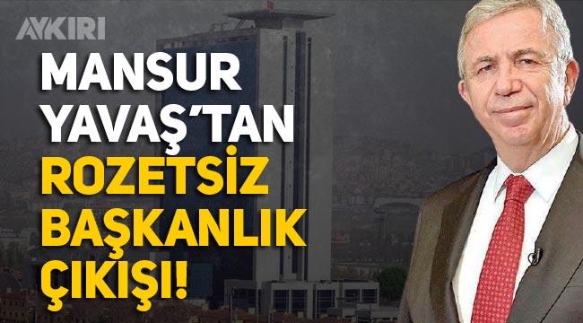 """Mansur Yavaş: """"Siyasi hiçbir davranışın içinde olmayacağım, söz verdiğim gibi rozetsiz başkanlık yapmaya devam edeceğim"""""""
