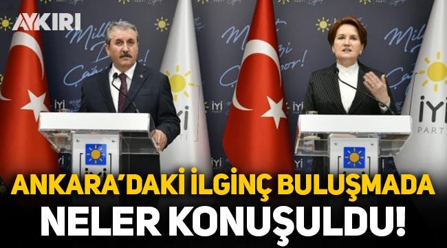 Meral Akşener ve Mustafa Destici buluşmasında neler konuşuldu?