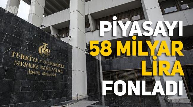 Merkez Bankası'ndan sıcak hamle, piyasayı 58 milyar lira fonladı