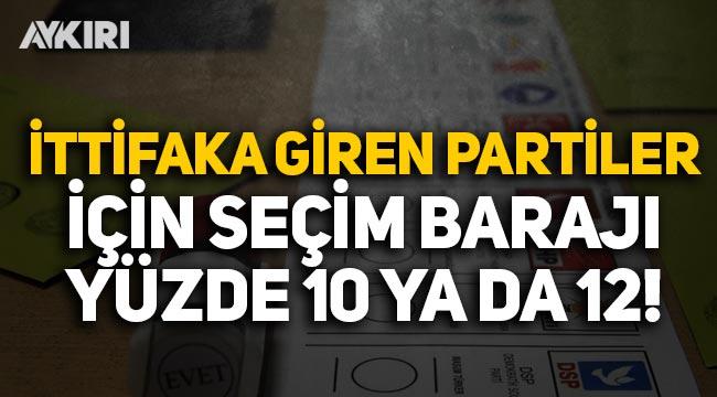 Selvi: Seçim barajının yüzde 7'ye indirilmesi planlanıyor, ittifaka giren partiler için yüzde 12 olabilir
