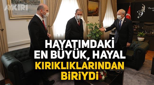 """Süleyman Soylu: """"Kemal Kılıçdaroğlu ile yaptığım görüşmeden sonra yaşananlar hayatımın en büyük hayal kırıklıklarından biriydi"""""""