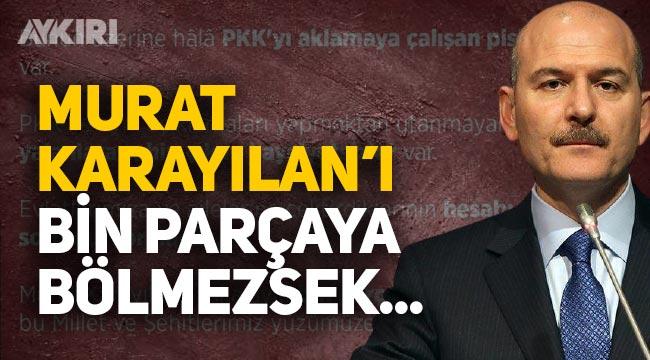 """Süleyman Soylu: """"Murat Karayılan'ı yakalayıp bin parçaya bölmezsek..."""""""
