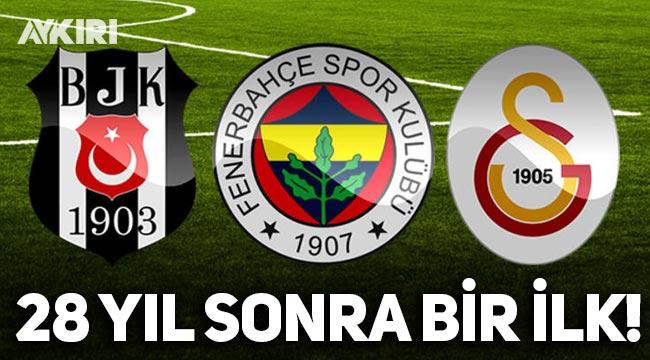 Süper Lig'de 28 yıl sonra bir ilk: Üç büyükler aynı puanda!