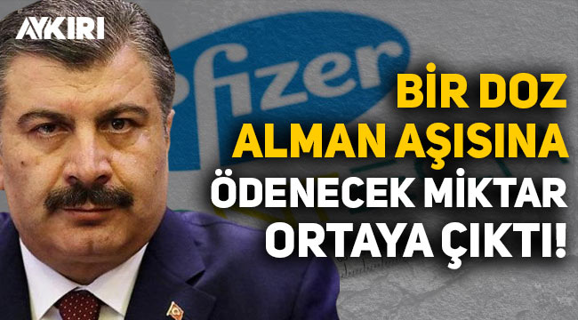 Türkiye'nin bir doz Pfizer/BioNTech aşısına ödeyeceği miktar belli oldu