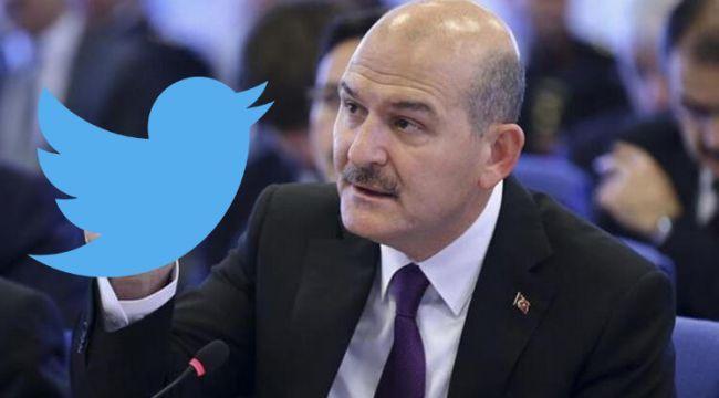 Twitter'dan Süleyman Soylu'nun 2 paylaşımına daha kısıtlama!