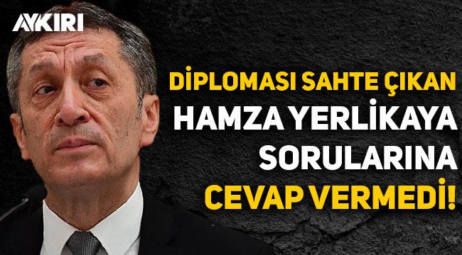 Ziya Selçuk, diploması sahte çıkan Hamza Yerlikaya ile ilgili sorulara cevap vermedi!