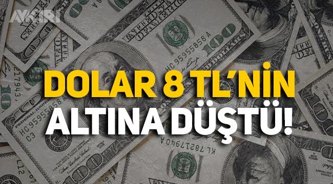 8.48'e yükselen dolar 8 TL'nin altına düştü!
