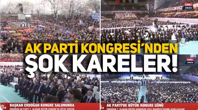 Ak Parti Kongresi'nden şok kareler: Koronavirüs tedbirleri yok sayıldı!
