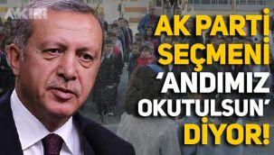AK Parti seçmeni Erdoğan'ın aksine 'Andımız okutulsun' diyor!
