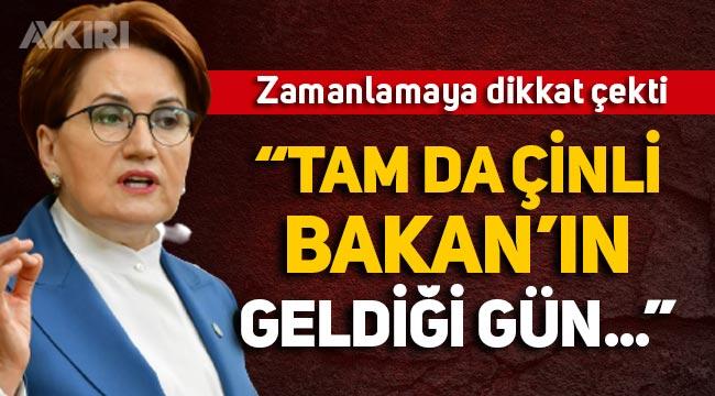 Akşener, Çinli Bakan'ın geldiği gün Kanal İstanbul'da yaşanan gelişmenin zamanlamasına dikkat çekti!