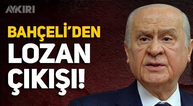 Bahçeli'den 'Lozan' açıklaması: Anadolu'nun senedi